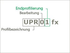 Beispiel 2 für die Systematik der Produktnamen der Profile