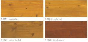 Farby do drewna mocopinus. paleta kolorów transparentnych