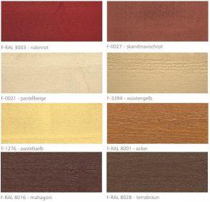 Farby do drewna mocopinus. paleta kolorw kryjacych cz 2 z 3. holzfarbe deckend