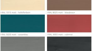 Farby Mocopinus wewnętrzne, kryjące, matowe paleta kolorów