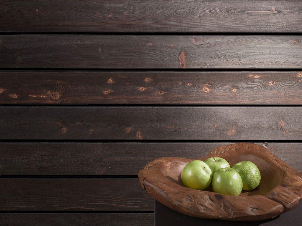 Drewno lekko opalane ogniem FLAM + bezbarwny lakier, do zastosowanie wewnątrz (2)